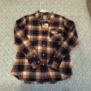 NWT North north Face Plaid Relaxed Fit XS